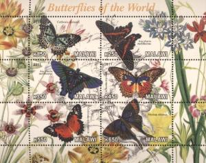 Butterflies of the World  Postage Stamps - Malawi, Africa